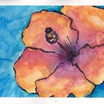 Flower Watercolour and Ink